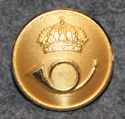 Swedish Postal service, 23mm gilt