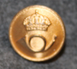 Swedish Postal service, 15mm gilt