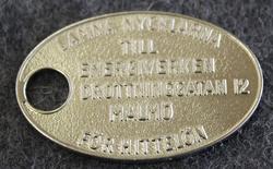 Malmö Energiverk, hittelön... Keyring with reward.