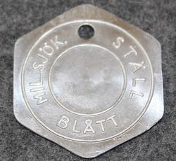 Kungliga Marinförvaltningen, KMF, Kuninkaallisen laivaston materiaalihallinto: Ställ blått mil.sjök