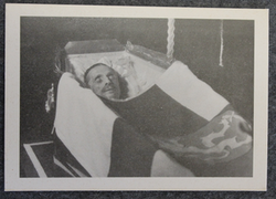 Marshall of Finland C.G.E. Mannerheim in coffin.