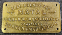 Sole Agents for Natal, P. Henwood, Son, Souter & Co. Durban & Maritzburg