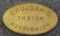 O. Hedlund, Patent, Holmsveden
