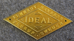 Ideal Lennart Hansson, Skurup, Sweden.