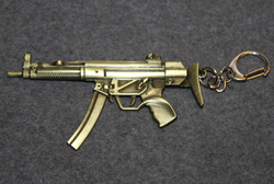 Submachinegun, keychain,