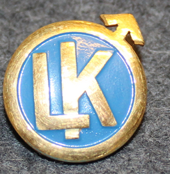 Luossavaara-Kiirunavaara AB, LK, Mining / railway corporation. Cap badge