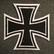 Rautaristi, Eisernes Kreuz, ommeltava kangasmerkki
