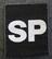 Suomen armeijan kangasmerkki,  SP, sotilaspoliisi