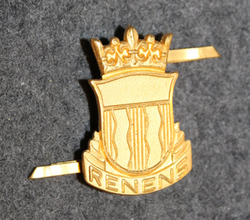 Swiss Police, cap badge, Rennes, gilt