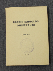 Finnish Army Medical Supply Service Regulations, 1959