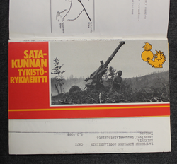 Conscript info of Satakunta Artillery regiment, 1985, + papers.