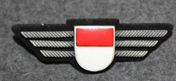 Chest badge ( Brustflügel ) Swiss Police. Solothurn