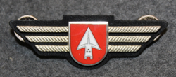 Chest badge ( Brustflügel ) Swiss Police. Grenchen