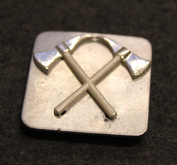 Swiss fire depatrments, insignia undeplate for axes.