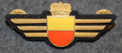 Chest badge ( Brustflügel ) Swiss Police. Yellow-orange