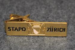 Swiss Police, tie clip, Stapo Zürich
