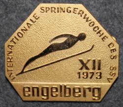 Internationale Springerwoche des SSV Engelberg XII 1973, Engelberg Ski-jump week, Swiss ski federation.