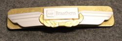 SAS Braathens, cap badge. Airlines insignia. Small
