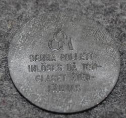 Örebro Ortens Mejeriförening ÖOM.  Denna pollett... 24mm