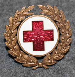 Svenska Röda Korset,Swedish Red Cross, badge w/ wreath