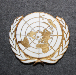UN Beret badge.