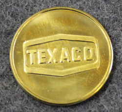 Texaco, fuel token.