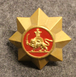 Iranian Gendarmerie, cap button, red.