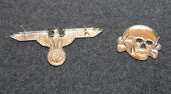 Waffen SS, Cap badges. REPRO