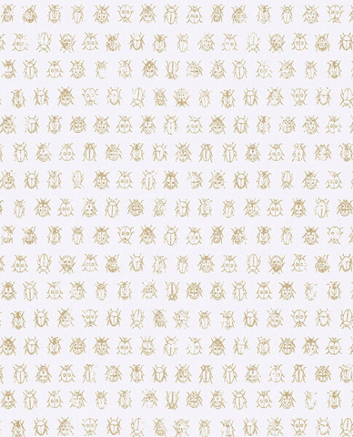 Tapetti 375030 Lady bug Off white, luonnonvalkoinen