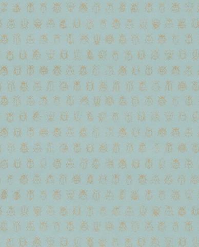 Tapetti 375031 Lady bug Light blue, merensininen, vaalea