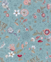 Tapetti 375003 Spring to life Sea blue, merensininen