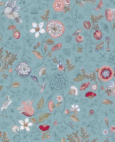Tapetti 375003 Spring to life Sea blue, merensininen