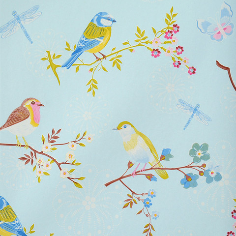 Tapetti 375081 Early bird Light Blue, vaaleansininen