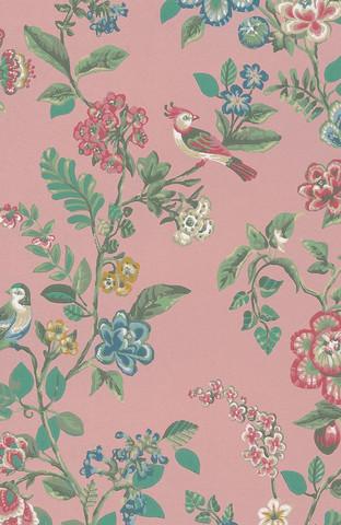 Tapetti 375063 Botanical Print, Soft pink, vaalea roosa