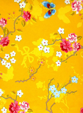 Tapetti 386034 Chinese Rose Yellow, keltainen