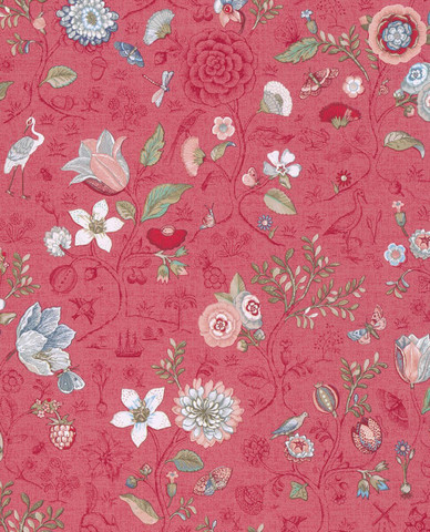 Tapetti 375004 Spring to life Red pink, punainen 1m