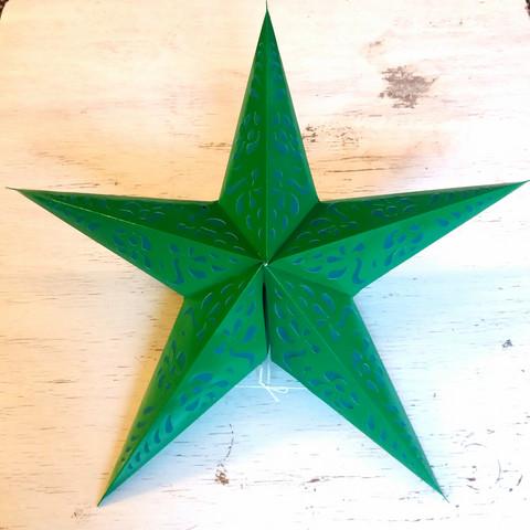 Paperitähti vihreä 60cm