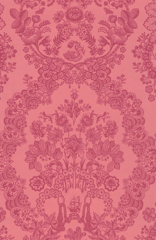 Tapetti 375044 Lacy Dutch Red pink, punainen