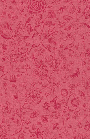 Tapetti 375013 Spring to life two tone Red pink, punainen