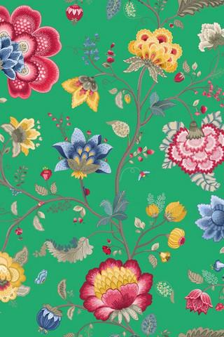 Tapetti 341036 Floral Fantasy Green, vihreä