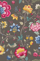 Tapetti 341038 Floral Fantasy Taupe, harmaa