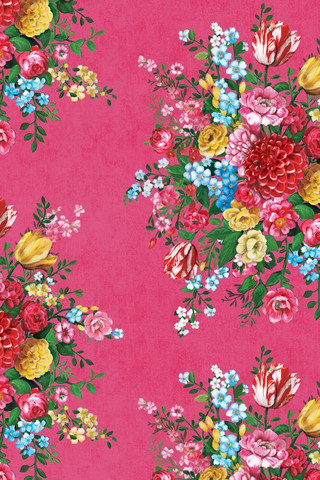 Tapetti 341041 Dutch Painters Pink, vadelmanpunainen