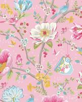 Tapetti 341001 Chinese Garden Pink, vaaleanpunainen