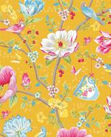 Tapetti 341006 Chinese Garden Yellow, keltainen