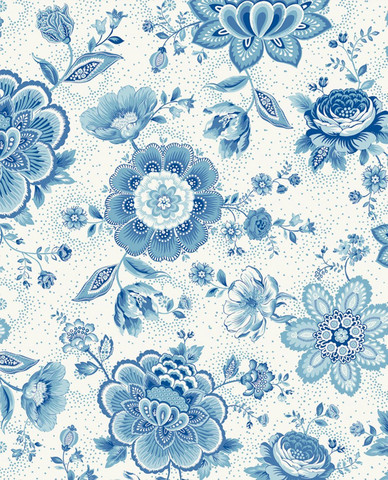 Tapetti 341012 Folklore Chintz Light Blue, vaaleansininen
