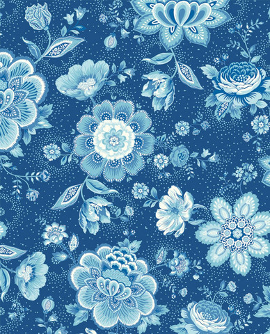 Tapetti 341013 Folklore Chintz Dark Blue, tummansininen