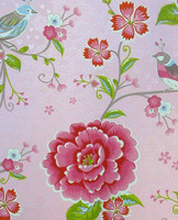 Tapetti 313010 Birds in Paradise Pink, vaaleanpunainen