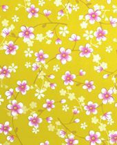 Tapetti 313020 Cherry Blossom Yellow, keltainen
