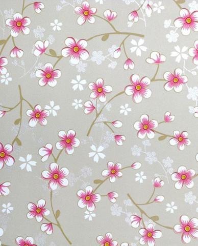 Tapetti 313022 Cherry Blossom, khaki