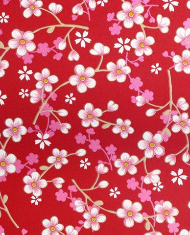 Tapetti 313027 Cherry Blossom Red, punainen